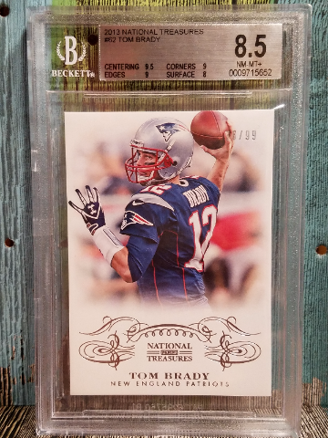 Tom Brady National Treasures 2013 #62 BGS 8.5 New England Patriots 62/99
