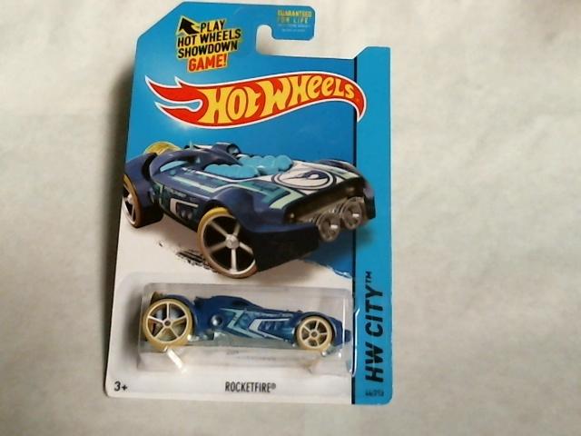 Hot Wheels 2015 HW City Space Team Rocketfire Blue Secret Treasure Hunt 44/250