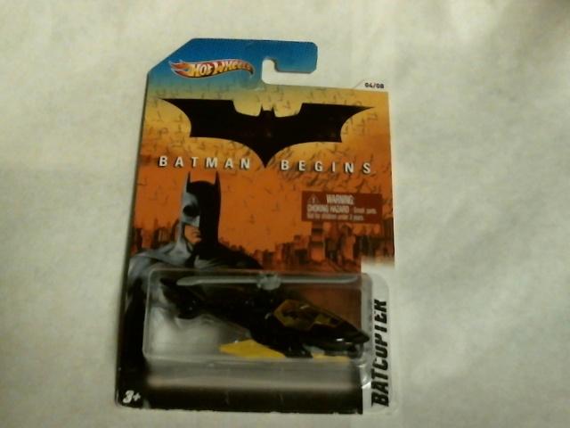Hot Wheels Batman Begins Batcopter 04/08 2011 Mattel