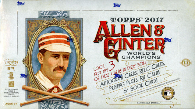 Case Break 2017 Topps Allen & Ginter Baseball Random 30 Teams & 5 Non-BB First Letter Spots Saturday 7/29 at 6:00pm