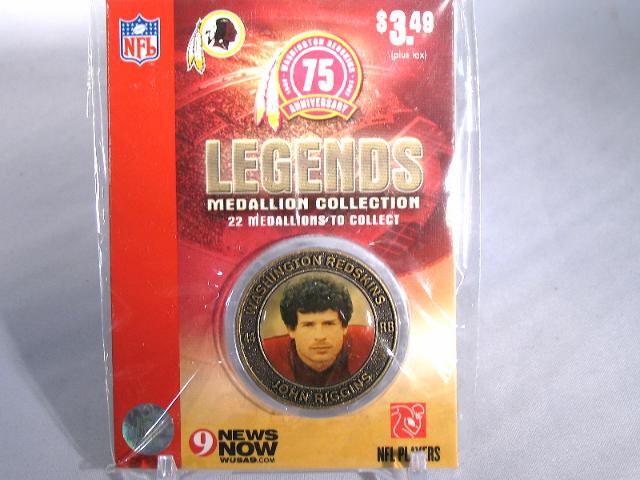 JOHN RIGGINS Washington Redskins Legends 2007 Collectible Medallion Coin