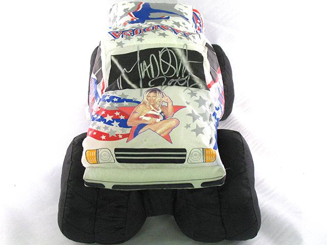 MADUSA Monster Jam Auto Signed Plush Puff White Monster Truck 2002? 2007?