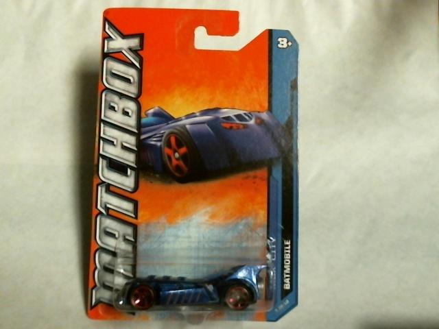Matchbox 2011  MBX City Batmobile 5/10 25/120 Blue Rare Batman Mattel W4886
