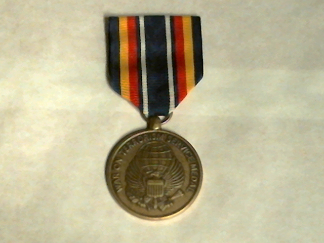 Full Size Global War On Terrorism Service (GWOTS) Medal Award