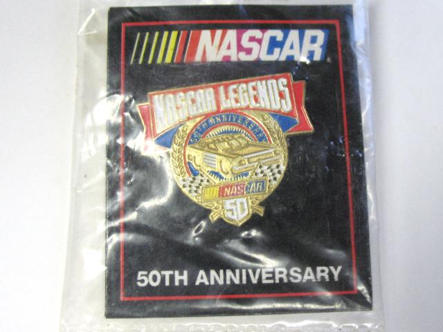 1998 NASCAR 50th Anniversary NASCAR LEGENDS Lapel Tack Pin NOS NIP