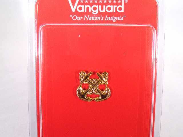 Vanguard US Navy Coast Guard Gold Collar Device Boatswain (BM)