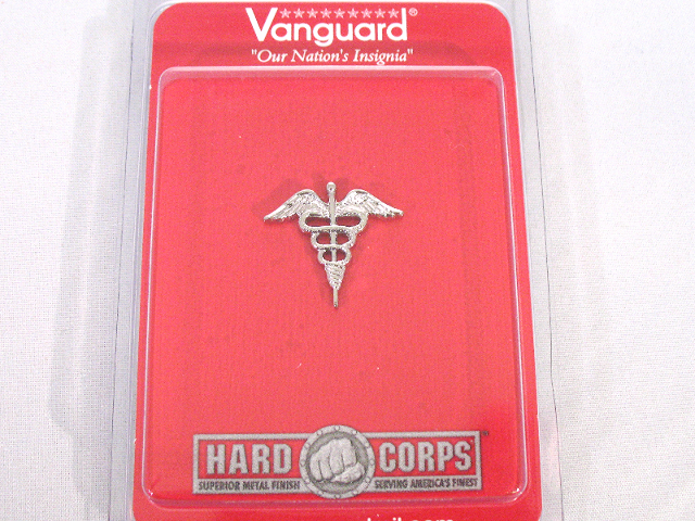 Vanguard US Navy Collar Device Hospital Caduceus with Mirror Finish