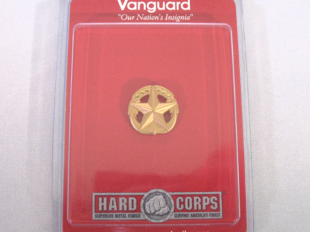 Vanguard US Navy Miniature Badge Command At Sea Matte Gold Finish