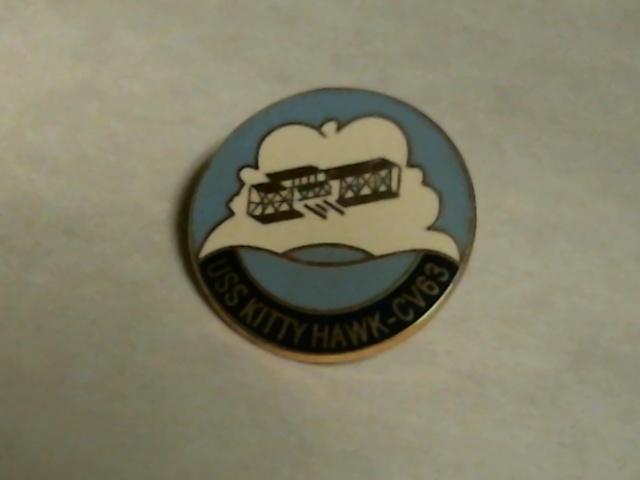 USS Kitty Hawk Seal Lapel Pin - OOP