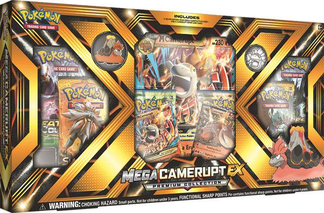 Pokemon TCG Mega Camerupt EX Premium Collection Sealed Box + 2 Random Boosters