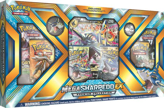 Pokemon TCG Mega Sharpedo EX Premium Collection Sealed Box + 2 Random Boosters