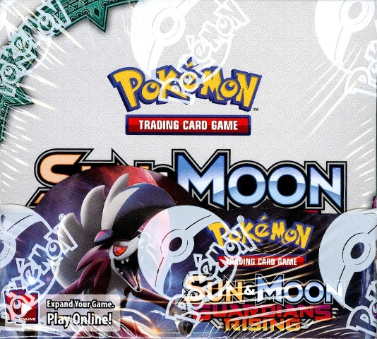Pokemon TCG XY Sun & Moon Guardians Rising Sealed Booster 6 Box Case (English)
