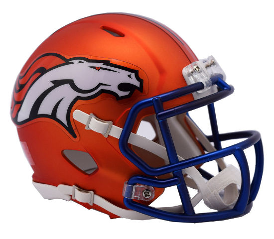 DENVER BRONCOS 2017 Riddell NFL Blaze Alternate Speed Mini Football Helmet