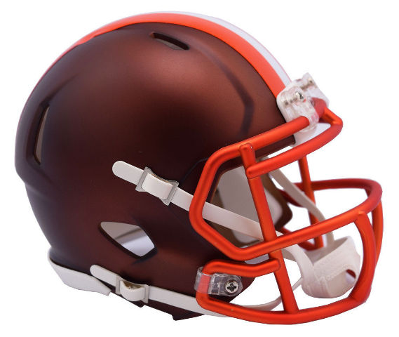 Cleveland Browns 2017 Riddell NFL Blaze Alternate Speed Mini Football Helmet