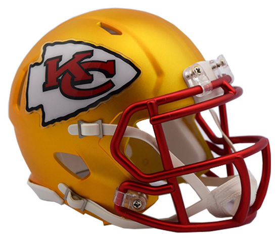 KANSAS CITY CHIEFS 2017 Riddell NFL Blaze Alternate Speed Mini Football Helmet