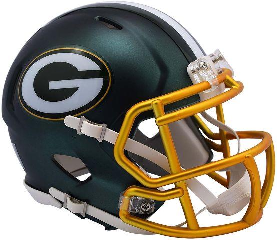 GREEN BAY PACKERS 2017 Riddell NFL Blaze Alternate Speed Mini Football Helmet