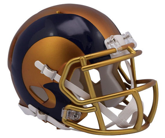 LA Los Angeles Rams 2017 Riddell NFL Blaze Alternate Speed Mini Football Helmet