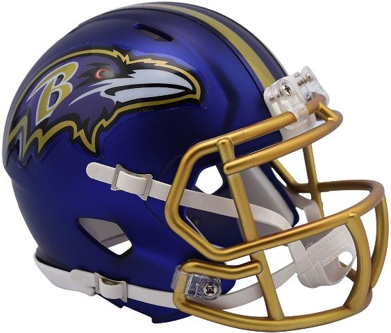 BALTIMORE RAVENS 2017 Riddell NFL Blaze Alternate Speed Mini Football Helmet
