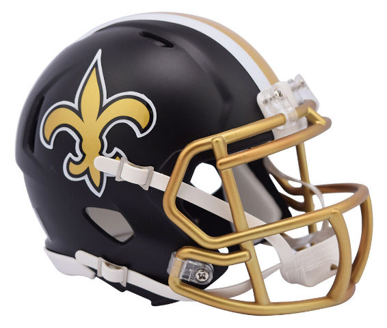 NEW ORLEANS SAINTS 2017 Riddell NFL Blaze Alternate Speed Mini Football Helmet