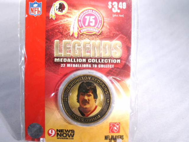 RUSS GRIMM Washington Redskins Legends 2007 Collectible Medallion Coin