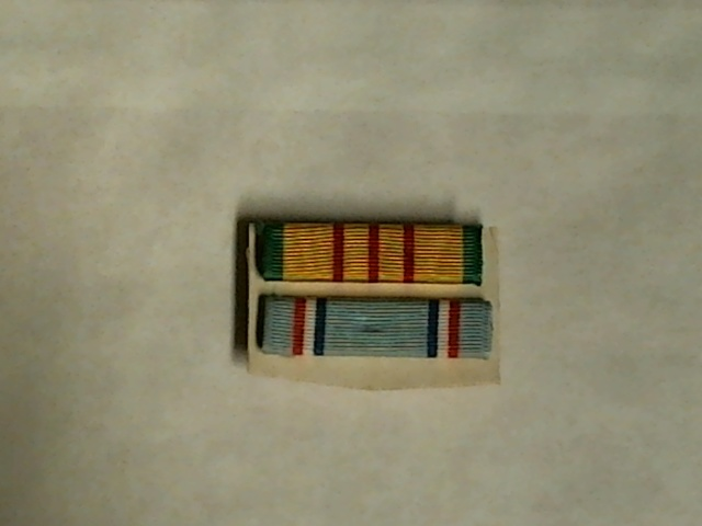 Vietnam Service & Air Force Good Conduct Ribbon Units - OOP - Clutch Pin Back