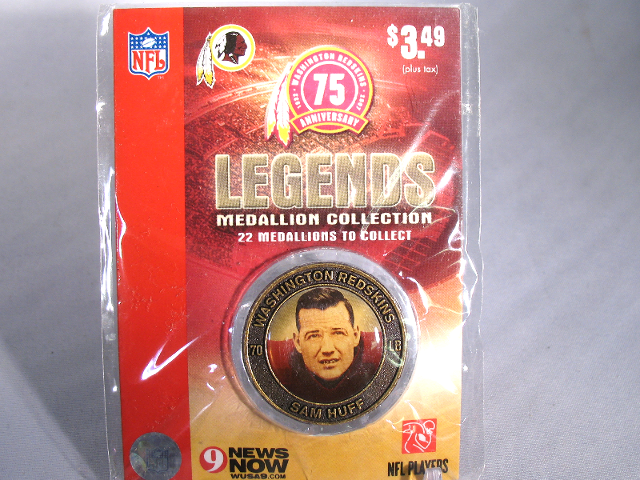 SAM HUFF Washington Redskins Legends 2007 Collectible Medallion Coin
