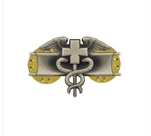 Vanguard ARMY DRESS BADGE: EXPERT FIELD MEDICAL - MINIATURE, SILVER OXIDIZED