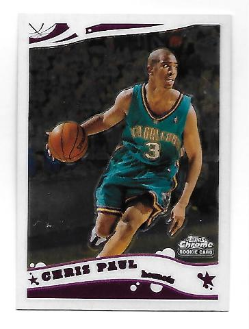 Chris Paul 2005-06 Topps Chrome Rookie RC Card #168 New Orleans Hornets