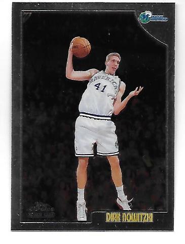 DIRK NOWITZKI 1998-99 Topps Chrome Rookie RC #154 Dallas Mavericks