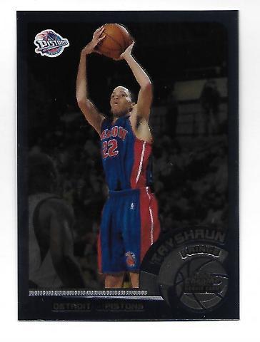 TAYSHAUN PRINCE 2002-03 Topps Chrome Rookie Card #144 Detroit Pistons RC