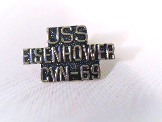 USS Eisenhower CVN-69 Ship Name Lapel Pin