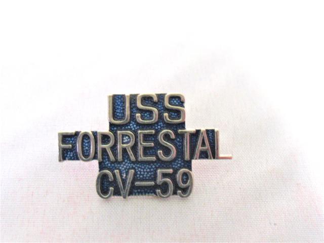 USS Forrestal  CV-59 Ship Name Lapel Pin