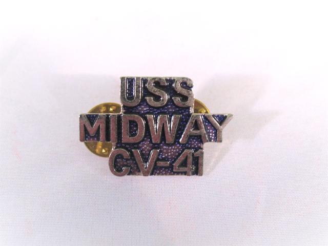 USS Midway CV-41 Ship Name Lapel Pin