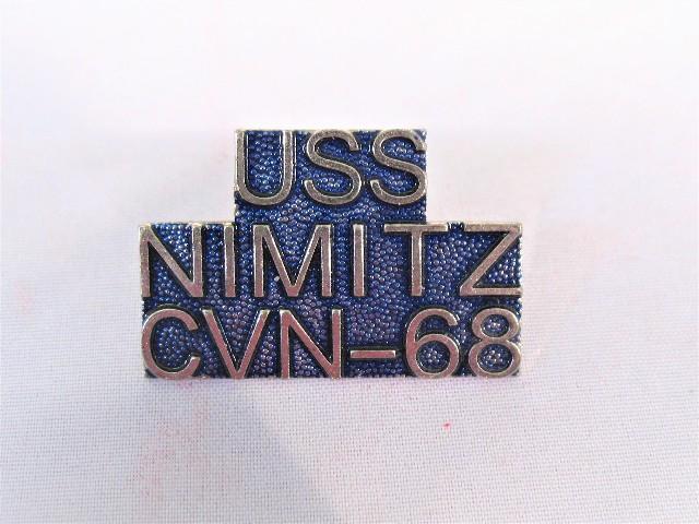 USS Nimitz CVN-68 Ship Name Lapel Pin