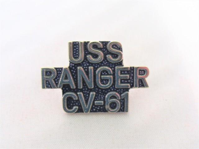 USS Ranger CV-61 Ship Name Lapel Pin