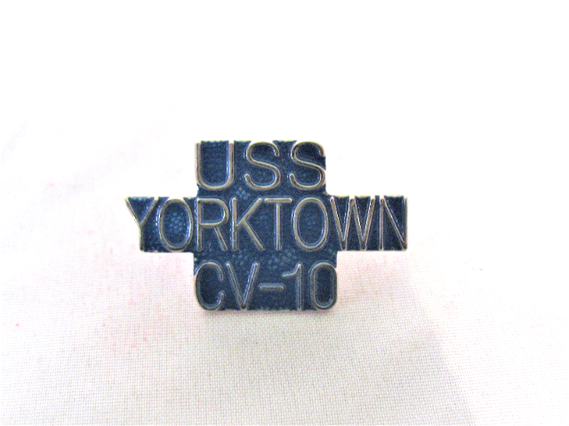 USS Yorktown  CV-10 Ship Name Lapel Pin