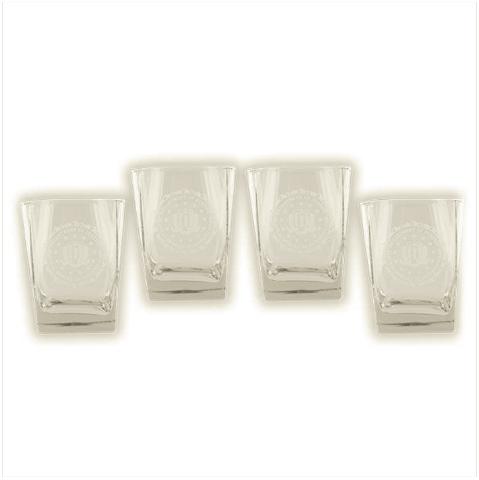 Vanguard FBI GLASSWARE: SET OF 4 GLASSES