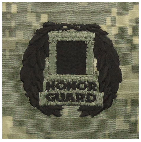 Vanguard ARMY EMBROIDERED BADGE ON ACU SEW ON: TOMB OF THE UNKNOWN