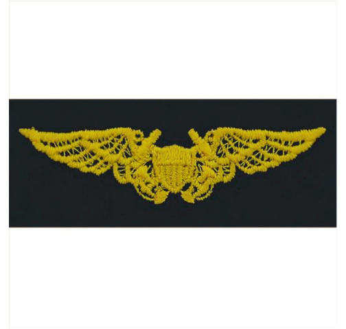 Vanguard NAVY EMBROIDERED BADGE: NAVAL FLIGHT OFFICER - EMBROIDERED ON COVERALL