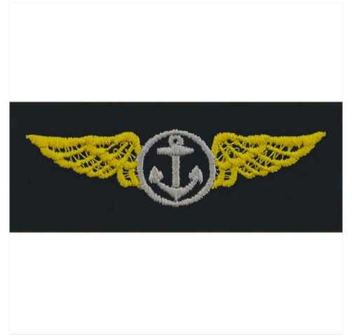 Vanguard NAVY EMBROIDERED BADGE: AVIATION OBSERVER - EMBROIDERED ON COVERALL