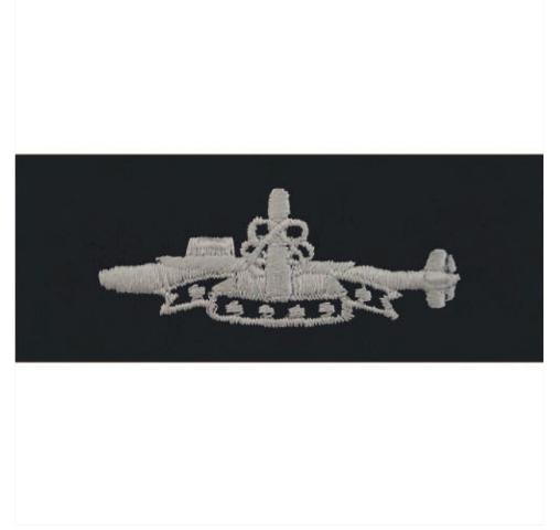 Vanguard NAVY EMBROIDERED BADGE: SUBMARINE SSBN DETERRENT PATROL - COVERALL