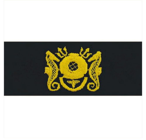 Vanguard NAVY EMBROIDERED BADGE: DIVING MEDICAL OFFICER - COVERALL
