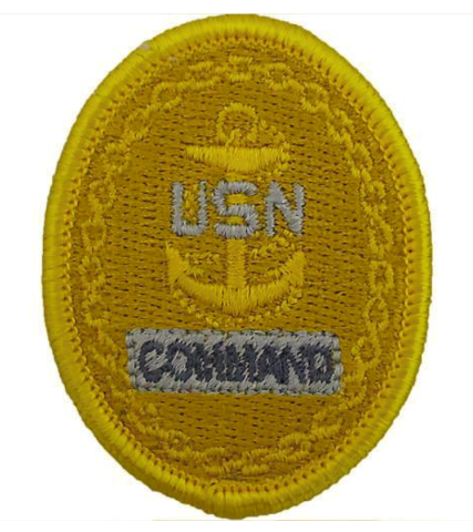 Vanguard NAVY EMBROIDERED BADGE: E7 COMMAND - EMBROIDERED ON COVERALL