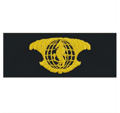 Vanguard NAVY EMBROIDERED BADGE: IUSS OFFICER - EMBROIDERED ON COVERALL