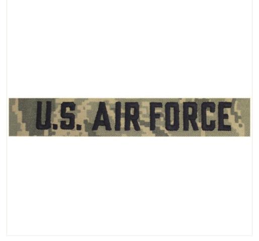 Vanguard AIR FORCE TAPE: U.S. AIR FORCE - EMBROIDERED ON ABU