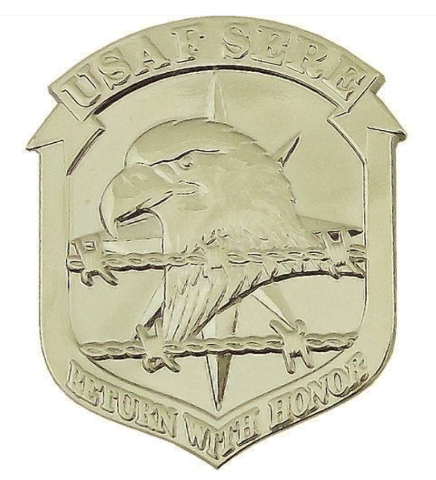 Vanguard AIR FORCE BERET BADGE: SURVIVAL EVASION RESISTANCE ESCAPE: SERE