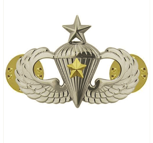 Vanguard ARMY BADGE: SENIOR COMBAT PARACHUTE FIFTH AWARD - MIRROR FINISH