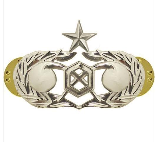 Vanguard AIR FORCE BADGE: CIVIL ENGINEER READINESS: SENIOR MIRROR FINISH