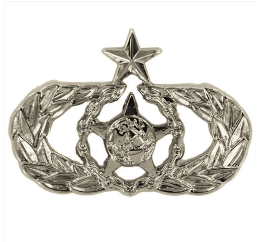 Vanguard AIR FORCE BADGE: SENIOR SAFETY - MIDSIZE MIRROR FINISH