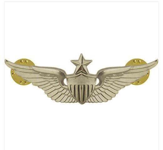 Vanguard ARMY BADGE: SENIOR AVIATOR - REGULATION SIZE, MIRROR FINISH